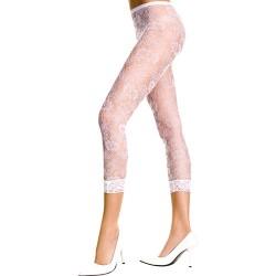 Kanten Legging Met Bloemenpatroon - Wit
