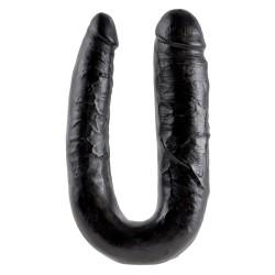 King Cock Large Double Trouble 44,5 cm - zwart