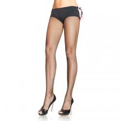 Nylon Visnet Panty - Zwart