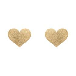 Flash Heart Tepelstickers - Goud